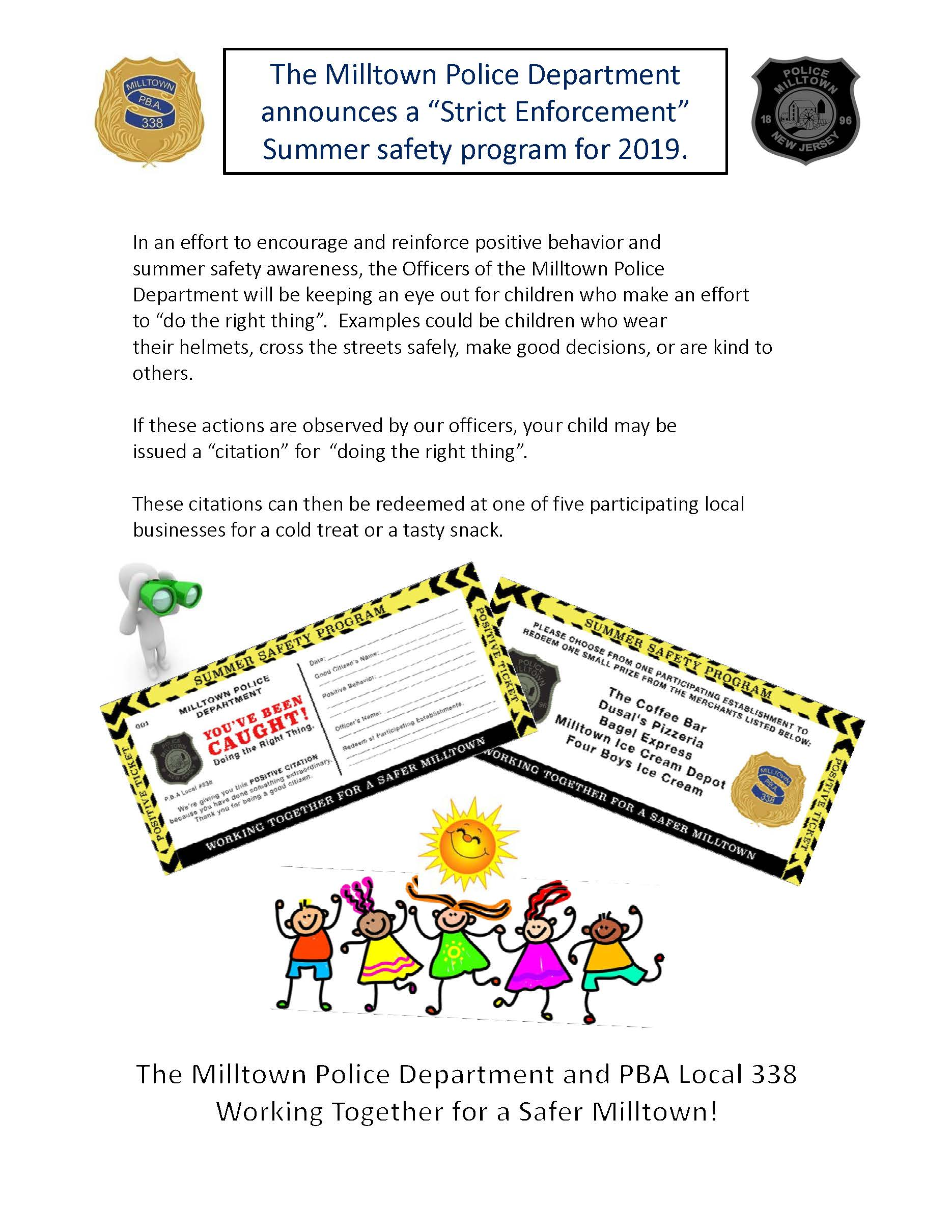 Summer Safety Program news flash2019